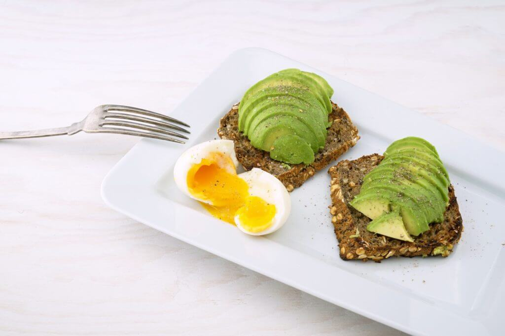 best healthy snacks toast avocado